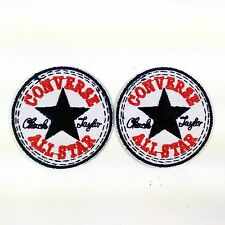2PC CONVERSE ALL STAR EMBROIDERED BADGES IRON ON/SEW ON PATCHES BIKER PUNK SHOES