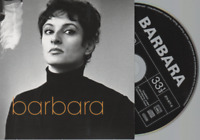 Barbara Studio / Live CD ALBUM (bonus de l'intégrale 64-96) pochette cartonnée