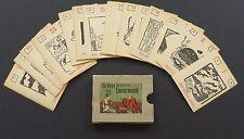 Vintage 1950 Lenormand Fortune Telling Oracle Cards Deck Vtg Germany