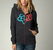 FOX RACING Ladies ATOLL CHANGING Zip Hoodie Size XS Womens Hoody Jacket Charcoal