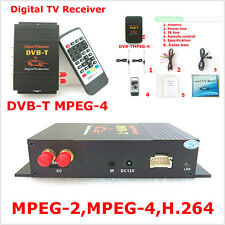 Portable HD DVB-T TV Receiver Box Tuner Dual Antenna Car Mobile Digital TV Box