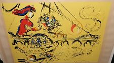 "MARC CHAGALL ""ISLE OF ST LOUIS"" LIMITED EDITION PLATE SIGNED LITHOGRAPH WITH COA"