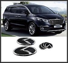 Front Hood /Trunk /Steering Horn K Logo Emblem 6p for KIA Sedona;ALL New Carnivl