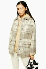 New Arrival TopShop Cream Check Jacket Last Size S
