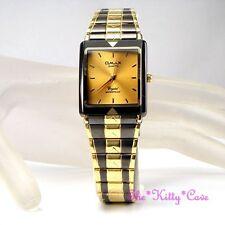 Gold Plated Band Polished Unisex Wristwatches