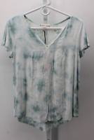 WOMEN'S SHORT SLEEVE V-NECK TIE-DYE T-SHIRT - KNOX ROSE MARLIN S - NEW W/ TAGS