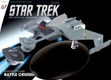 #68 Star Trek Federation Attack Cruiser Die Cast Metal Ship-UK/Eaglemoss w Mag