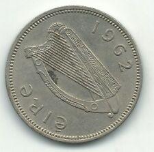 New listing High Grade 1962 Ireland 1 One Shilling Coin-Harp-Dec225