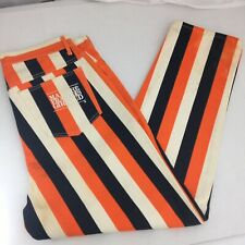 Marithe Francois Girbaud VTG Orange Black White Stripe Jeans Signed by Riff Raff