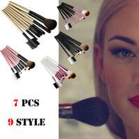 7PCS Wood Makeup Brush EyeShadow Brush Cosmetics Blending Brush Tool Profession