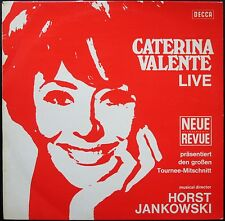 CATERINA VALENTE LIVE NEUE REVUE PRESSAGE ALLEMAND 33T LP GEMA DECCA SLK 16.626