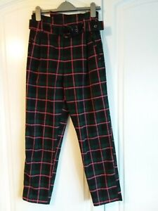 TOPSHOP check trousers size 6