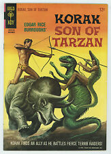 KORAK SON OF TARZAN #11 8.0 HIGHER GRADE DINOSAUR COVER OW/W PAGES SILVER AGE