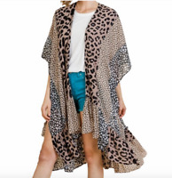 UMGEE  Boho Gypsy Duster Kimono leopard 1X