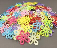 200Pcs Sequins Hollow Flowers Felt Appliques Mixed Colors Cardmaking Crafts 25mm