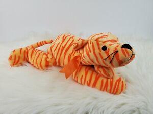"""Vintage 1996 Ty Pillow Pals Purr Orange Tiger Plush 14"""""""
