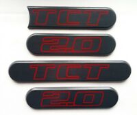 ⭐🇫🇷NEUF PACK DE 4 ENJOLIVEURS DE CUSTODE PEUGEOT 205 GTI TCT 2.0 SWAP LOGO NEW