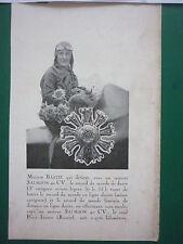 8/1931 PUB SOCIETE DES MOTEURS SALMSON MARYSE BASTIE RECORD DU MONDE DE DUREE AD