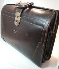 New listing Vintage Price Waterhouse Large Brown Satchel, Briefcase, Audit Bag c. 1950s