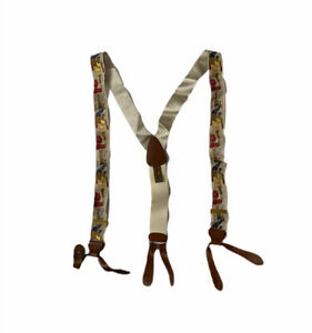 Trafalgar Ltd Edition Silk Braces/Suspenders basketball leather