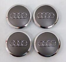 4X AUDI Grey Wheel Center Hub Caps 4B0 601 170 A 4B0601170A A3 A4 A6 A8 Q5 TT