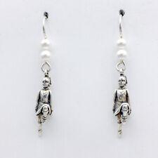 Sterling Silver Irish Dancer dangle earrings-Feis, Feisanna, Celtic, Step,Dancer