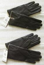 Marrones guantes de cuero-cacao-NOA NOA-Nuevo-talla 8