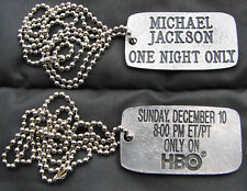 Michael Jackson Collier Pendentif HBO ONE NIGHT ONLY Dog Tag Pendant PROMO 1995