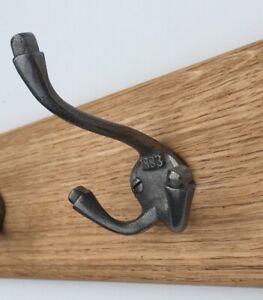 1 x Cast Iron Triple Coat Hook 1883 Vintage Industrial Style