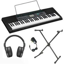 Casio CTK-2550AD Keyboard Pack AC Adapter Free Lessons Stand Headphones Portable