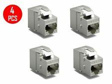 4 x CAT8 RJ45 Network LAN Ethernet Shielded Keystone Jack Tool Free 40Gbps Gold