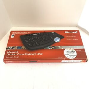 Microsoft Comfort Curve 2000 B2L00002 USB Wired Keyboard MAC Windows