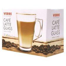 4 x 240ml Latte Macchiato Bicchieri Tazze Tazze per caffè tè caldo Cappuccino Irish Coffee