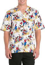 Cherokee Tooniforms Scrubs Mickey Mouse Club Men's Top Sz Large NWT