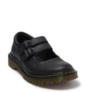Dr. Martens Adena III Mary Jane Lug Clog Shoes In Black Newark Leather sz. 10