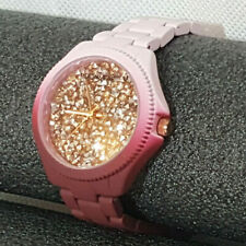 NEW Rockawear Watch Womens Wine Lilac Purple Silver & Gold Sparkle Face