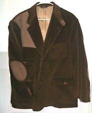 vintage Orvis brown Corduroy Sport Coat blazer Suede Elbow Shoulder pads 46L