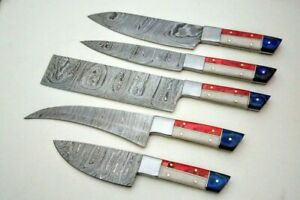 Professional chef knife set/ 5pcs chef Knife Damascus BLADE set
