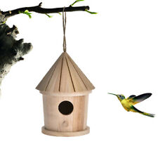 Wooden Bird Nest Hanging Bird House Natural Wooden Bird Cage Resting Place
