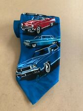VINTAGE RALPH MARLIN HISTORY OF CHEVY 100% SILK TIE MADE IN USA