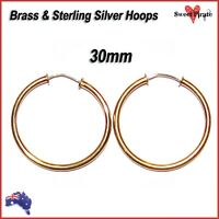 8mm 18ct ROSE GOLD PLATED on Solid Sterling Silver Sleeper Earring MADE IN AUS