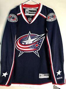 Reebok Premier NHL Jersey Columbus Blue Jackets Team Navy sz M