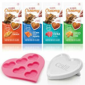 Catit Creamy All Natural Cat Treats Grain Free Lickable Paste + Dish / Ice Tray