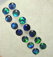 Australian Opal Gem Quality Opal Triplet Pairs,  Lightning Ridge 4mm, 14pc  8267