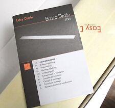 ESS Edelstahl-Duschrinne Basic Drain 70 cm Komplett-Set Zero NEU+OVP  EasyDrain
