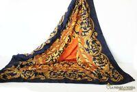 FOULARD SILK SCARF 100% IN SETA VINTAGE DA DONNA Silk Woman Scarf made in Italy