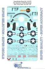 1:48 N American P-51B Mustangs 353 356 FS 354 FG SuperScale Decals #48-979