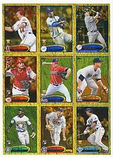 30ct 2012 Topps Baseball Golden Moments Parallel Card Lot