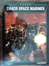 Chaos Space Marines Codex Warhammer 40,000  USED Games Workshop 40K