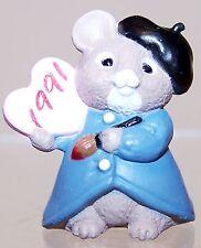 1991 New Hallmark Valentine Merry Miniature Artist Mouse Mint Never Used Qsm1519